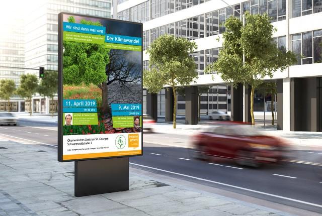 Plakat Evangelische Erwachsenenbildung Klimawandel