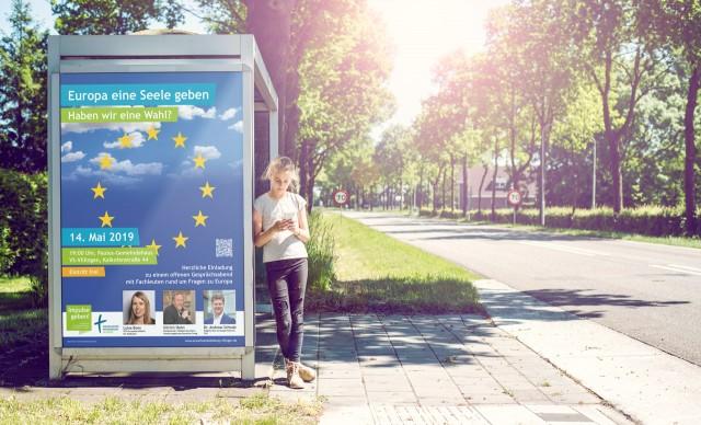 Plakat - Europa eine Seele geben - Evang. Erwachsenenbildung